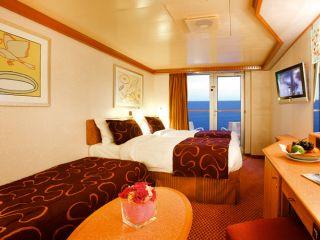 Описание на каюта Каюти с балкон - клас Premium на круизен кораб Costa DELIZIOSA – обзавеждане, площ, разположение