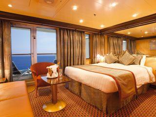Описание на каюта Апартамент Панорама - категория PS на круизен кораб Costa DELIZIOSA – обзавеждане, площ, разположение
