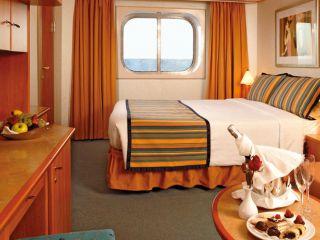 Описание на каюта Външни каюти - клас Premium  на круизен кораб Costa FORTUNA – обзавеждане, площ, разположение