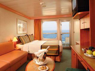 Описание на каюта Каюти с балкон - клас Premium на круизен кораб Costa FORTUNA – обзавеждане, площ, разположение