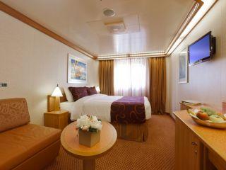 Описание на каюта Външни каюти - клас Premium  на круизен кораб Costa FAVOLOSA – обзавеждане, площ, разположение