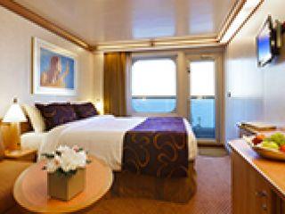 Описание на каюта Каюти с балкон - клас Premium на круизен кораб Costa FASCINOSA – обзавеждане, площ, разположение