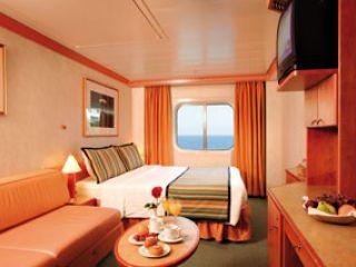 Описание на каюта Външна каюта - категория Premium на круизен кораб Costa MEDITERRANEA – обзавеждане, площ, разположение
