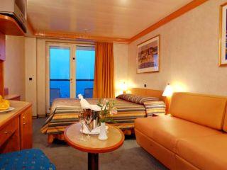 Описание на каюта Апартамент с балкон - категория S на круизен кораб Costa MEDITERRANEA – обзавеждане, площ, разположение