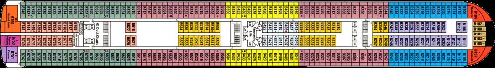 ПАЛУБА 11 BAJA на круизен кораб Diamond Princess - разположение на каюти, ресторанти, места за забавления и спорт