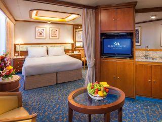 Описание на каюта Апартамент на круизен кораб Diamond Princess – обзавеждане, площ, разположение