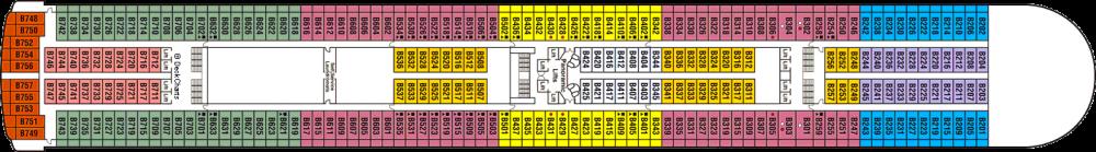 ПАЛУБА 11 BAJA на круизен кораб Crown Princess - разположение на каюти, ресторанти, места за забавления и спорт