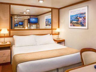 Описание на каюта Вътрешни каюти на круизен кораб Crown Princess – обзавеждане, площ, разположение