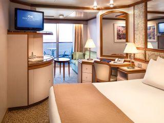 Описание на каюта Малък апартамент на круизен кораб Caribbean Princess – обзавеждане, площ, разположение