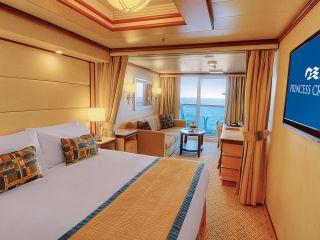 Описание на каюта Малък апартамент на круизен кораб Regal Princess – обзавеждане, площ, разположение