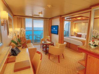 Описание на каюта Апартамент на круизен кораб Regal Princess – обзавеждане, площ, разположение