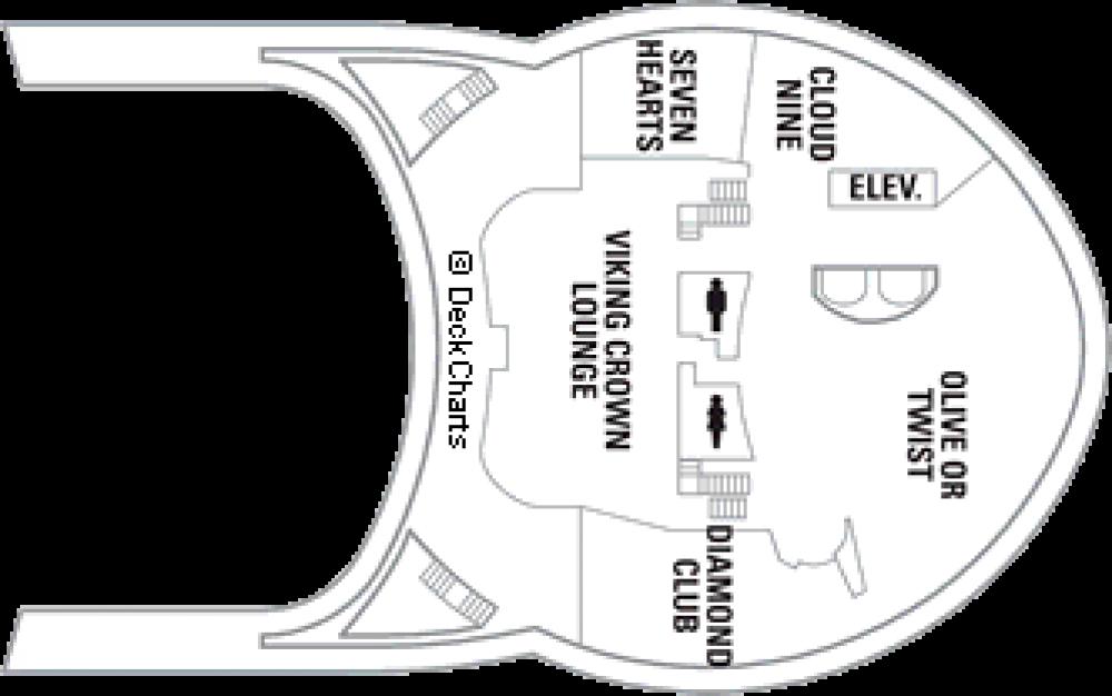 Палуба 14 на круизен кораб FREEDOM of the Seas - разположение на каюти, ресторанти, места за забавления и спорт