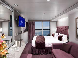 Описание на каюта Каюти с балкон - клас FANTASTICA на круизен кораб MSC Seaside – обзавеждане, площ