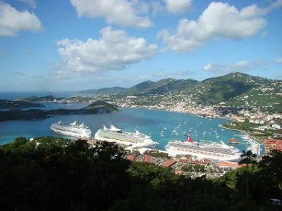 Описание и снимки на пристанище о-в Сейнт Томас (Шарлот Амали), Вирджински острови (САЩ) от круизен маршрут