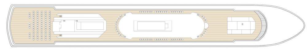 Палуба 11 на круизен кораб CELESTYAL Majesty - разположение на каюти, ресторанти, места за забавления и спорт