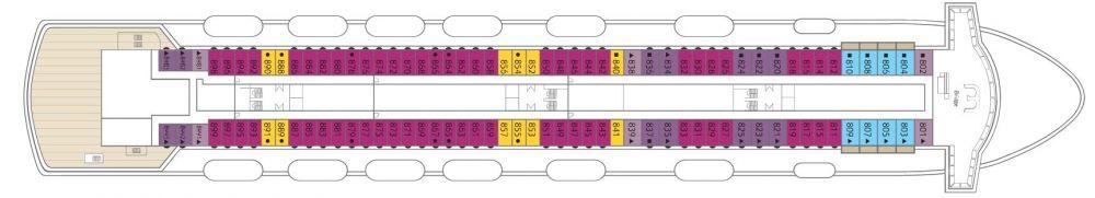 Палуба 8 на круизен кораб CELESTYAL Majesty - разположение на каюти, ресторанти, места за забавления и спорт