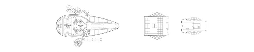 Палуба 20 на круизен кораб MSC Seaside - разположение на каюти, ресторанти, места за забавления и спорт