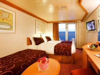 Описание на каюта Каюти с балкон - клас Basic на круизен кораб Costa DELIZIOSA – обзавеждане, площ