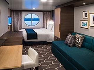 Описание на каюта Ocean View Stateroom - категория 2N на круизен кораб HARMONY of the Seas – обзавеждане, площ