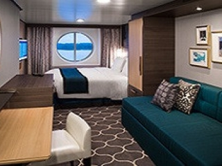 Описание на каюта Ocean View Stateroom - категория 1N на круизен кораб HARMONY of the Seas – обзавеждане, площ