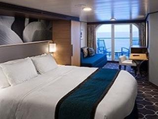 Описание на каюта Ocean View Balcony – категории 8D на круизен кораб HARMONY of the Seas – обзавеждане, площ
