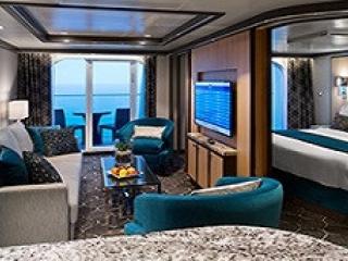 Описание на каюта Grand Suite - 1 Bedroom - Голям апартамент с една спалня - категория GS на круизен кораб HARMONY of the Seas – обзавеждане, площ
