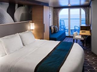 Описание на каюта Ocean View Balcony – категории 8D на круизен кораб SYMPHONY of the seas – обзавеждане, площ