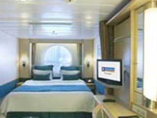 Описание на каюта Ocean View Stateroom - категория 1N на круизен кораб INDEPENDENCE  of the seas – обзавеждане, площ