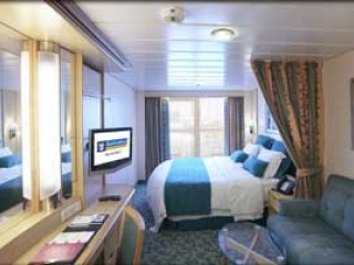 Описание на каюта Ocean View Balcony – категории 5D на круизен кораб INDEPENDENCE  of the seas – обзавеждане, площ