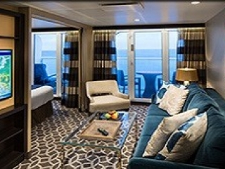 Описание на каюта Grand Suite - 1 Bedroom – голям апартамент, категория GS на круизен кораб ANTHEM of the seas – обзавеждане, площ