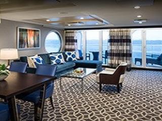 Описание на каюта Owner's Suite - 1 Bedroomy – луксозен апартамент, категория OS на круизен кораб ANTHEM of the seas – обзавеждане, площ