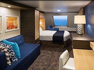 Описание на каюта Ocean View Stateroom - категория I на круизен кораб OVATION of the Seas – обзавеждане, площ