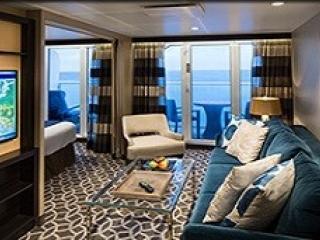 Описание на каюта Grand Suite - 1 Bedroom – голям апартамент, категория GS на круизен кораб OVATION of the Seas – обзавеждане, площ