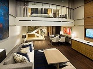 Описание на каюта Sky Loft Suite w/Balcony - категория SL на круизен кораб OVATION of the Seas – обзавеждане, площ