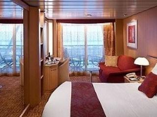 Описание на каюта Aqua class - Каюти с балкон - категория А1 на круизен кораб Celebrity MILLENNIUM – обзавеждане, площ