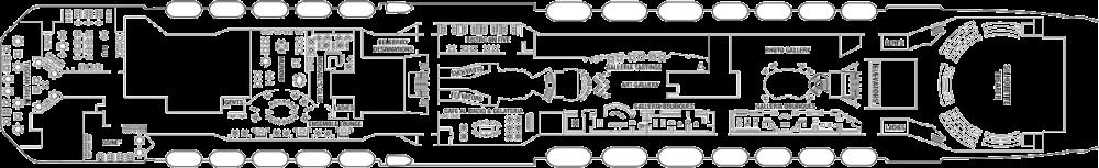 Палуба 5 на круизен кораб Celebrity Silhouette - разположение на каюти, ресторанти, места за забавления и спорт