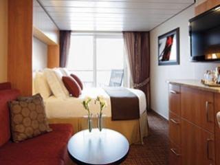 Описание на каюта Concierge Class – ВИП каюти - категории C3 на круизен кораб Celebrity Silhouette – обзавеждане, площ