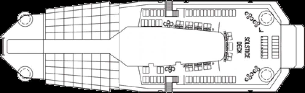 Палуба 16 на круизен кораб Celebrity Reflection - разположение на каюти, ресторанти, места за забавления и спорт