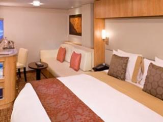 Описание на каюта Inside Stateroom - Вътрешна каюта - категория 9 на круизен кораб Celebrity Eclipse – обзавеждане, площ