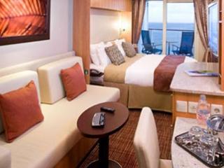 Описание на каюта Aqua class - Каюти с балкон - категория А1 на круизен кораб Celebrity Summit – обзавеждане, площ