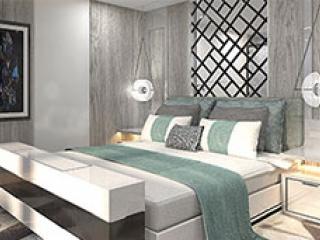 Описание на каюта Royal Suite - Кралски апартамент – категория RS на круизен кораб Celebrity Edge – обзавеждане, площ