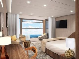 Описание на каюта Sky Suite w/Infinite Ver - категория SK на круизен кораб Celebrity Flora – обзавеждане, площ