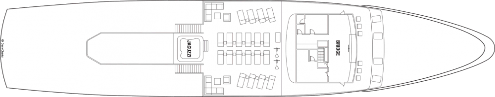 Палуба 5 на круизен кораб Celebrity Xperience - разположение на каюти, ресторанти, места за забавления и спорт