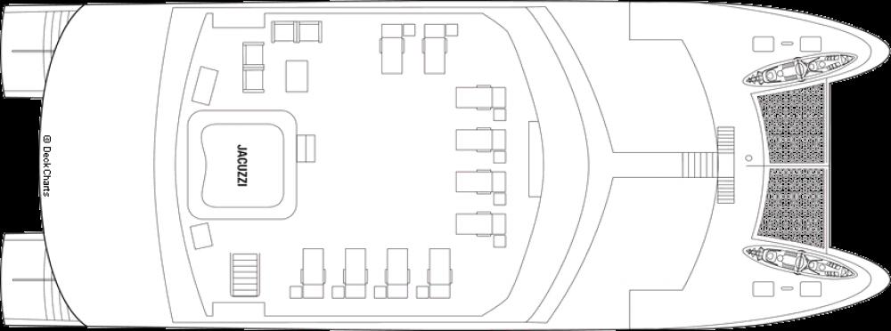 Палуба 4 на круизен кораб Celebrity Xploration - разположение на каюти, ресторанти, места за забавления и спорт