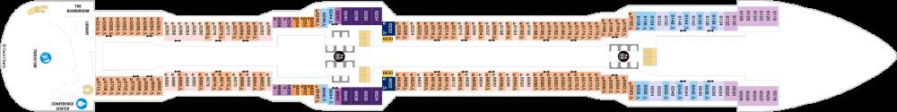 Палуба 6 на круизен кораб Spectrum Of The Seas - разположение на каюти, ресторанти, места за забавления и спорт