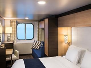 Описание на каюта Ocean View Stateroom - категория 2N на круизен кораб Spectrum Of The Seas – обзавеждане, площ