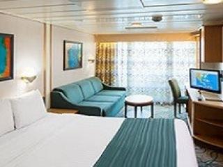 Описание на каюта Spacious Ocean View Balcony – категория 3B на круизен кораб ENCHANTMENT of the Seas – обзавеждане, площ
