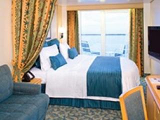 Описание на каюта Ocean View Balcony – категории 5D на круизен кораб EXPLORER Of The Seas  – обзавеждане, площ