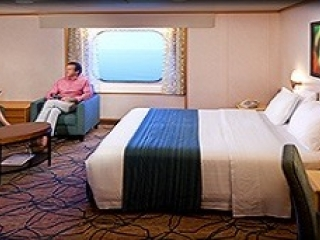Описание на каюта Oceanview Stateroom -  категория 3N на круизен кораб VISION Of The Seas  – обзавеждане, площ