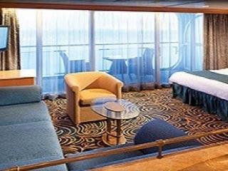 Описание на каюта Grand Suite - 1 Bedroom - Голям апартамент с една спалня - категория GS на круизен кораб VISION Of The Seas  – обзавеждане, площ
